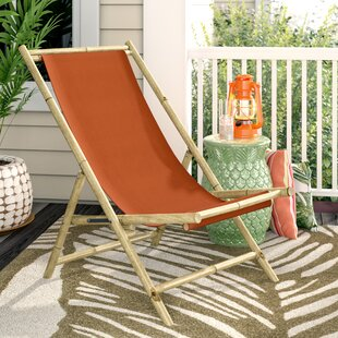 Pleasing Atalya Folding Bamboo Relax Sling Beach Chair Onthecornerstone Fun Painted Chair Ideas Images Onthecornerstoneorg