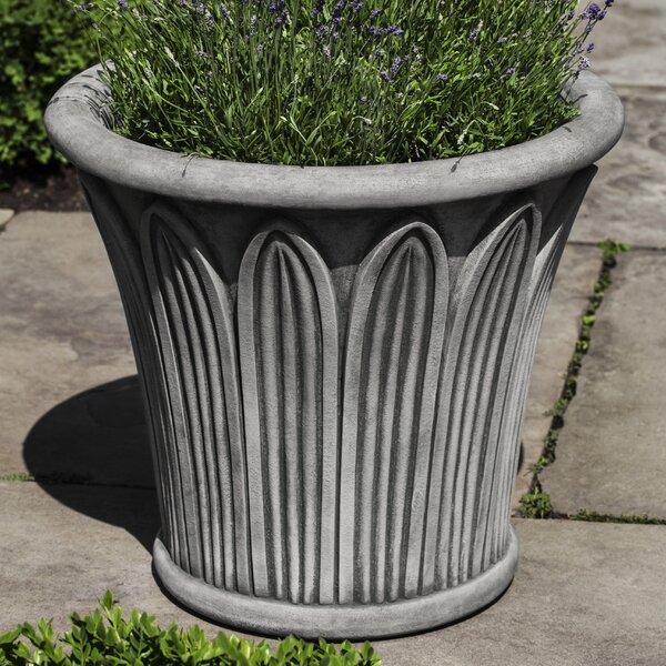 Palmetto Cast Stone Pot Planter by Campania International