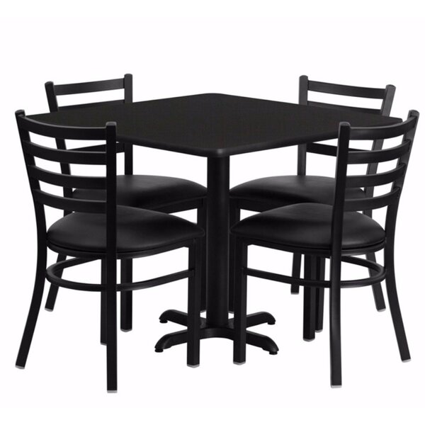 Maupin Square Laminate 5 Piece Dining Set by Winston Porter