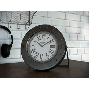 Galvanized Desk Clock. By Trent Austin Design