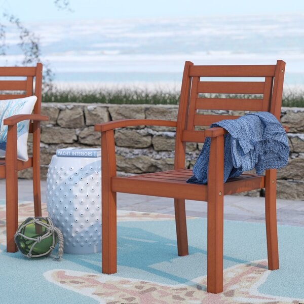 Sanford Stacking Dining Arm Chair by Beachcrest Home
