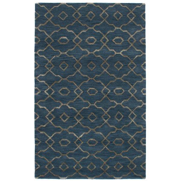 Hartland Hand-Tufted Wool/Silk Blue Area Rug by Mercer41