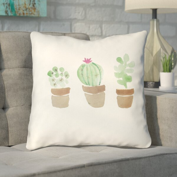 Burchard Flores Indoor/Outdoor Throw Pillow