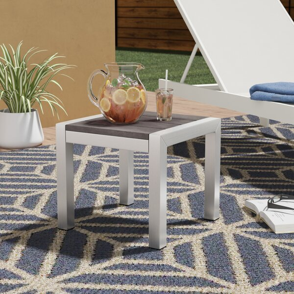 Coline Outdoor Metal Patio Side Table by Orren Ellis