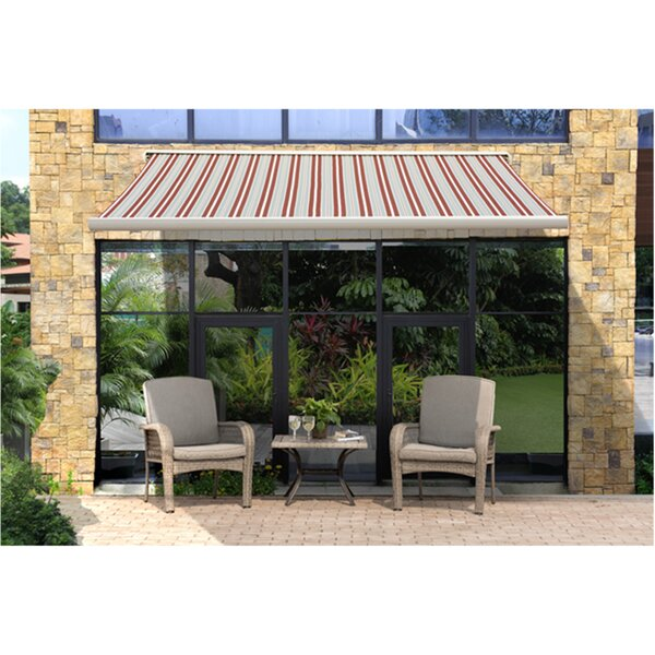10 ft. W x 9 ft. D Retractable Patio Awning by Sunjoy