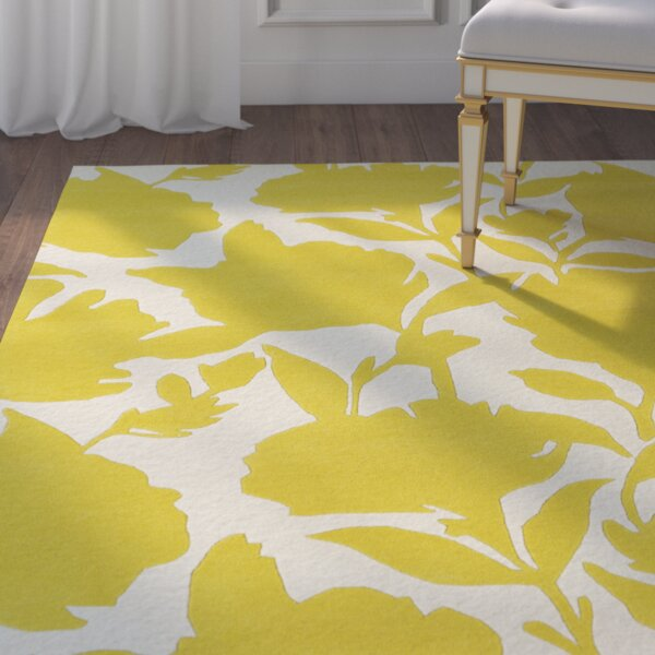 Marquain Hand-Tufted Yellow / Ivory Area Rug by House of Hampton