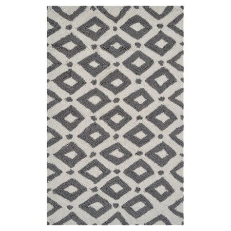 Hand-Hooked Grey Area Rug by The Conestoga Trading Co.