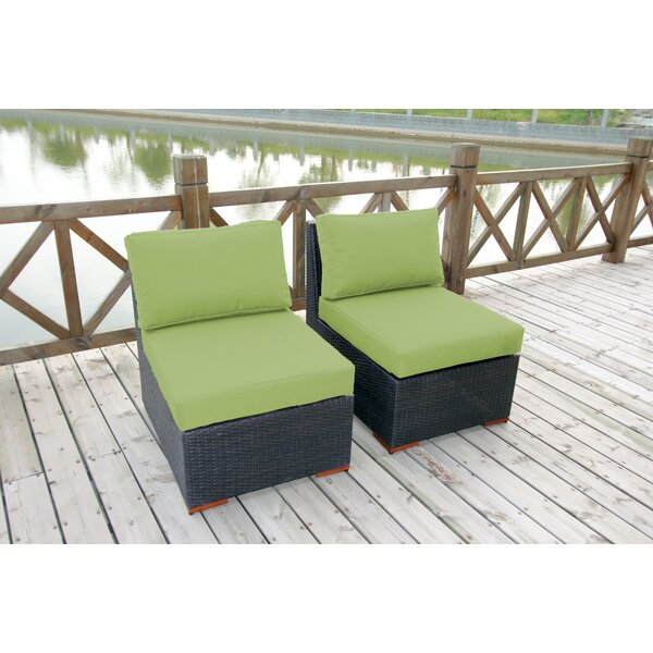 Scholtz Armless/Slipper Chair with Cushions (Set of 2) by Bay Isle Home