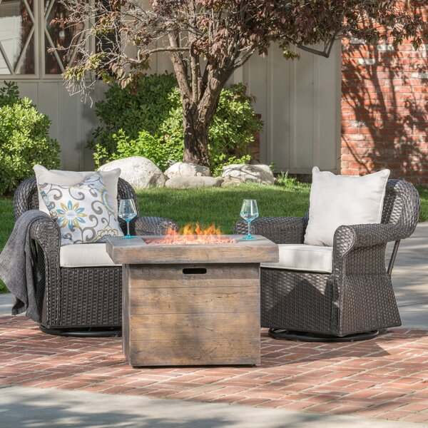 Claysville Patio Chair with Cushion by Gracie Oaks