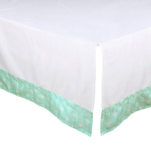 Arrow Print Tailored Crib Dust Ruffle by The Peanut Shell