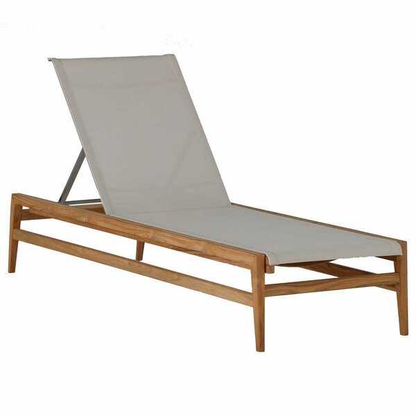 Coast Teak Reclining Chaise Lounge by Summer Classics