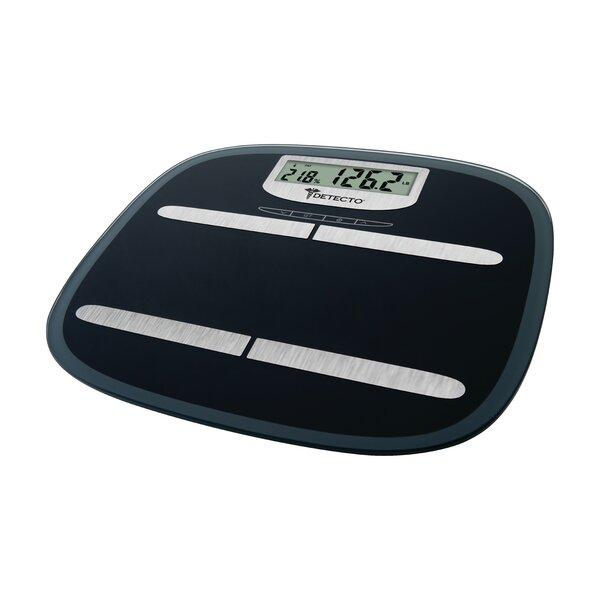 Detecto Wide Platform Glass Digital Body Fat Scale by Escali