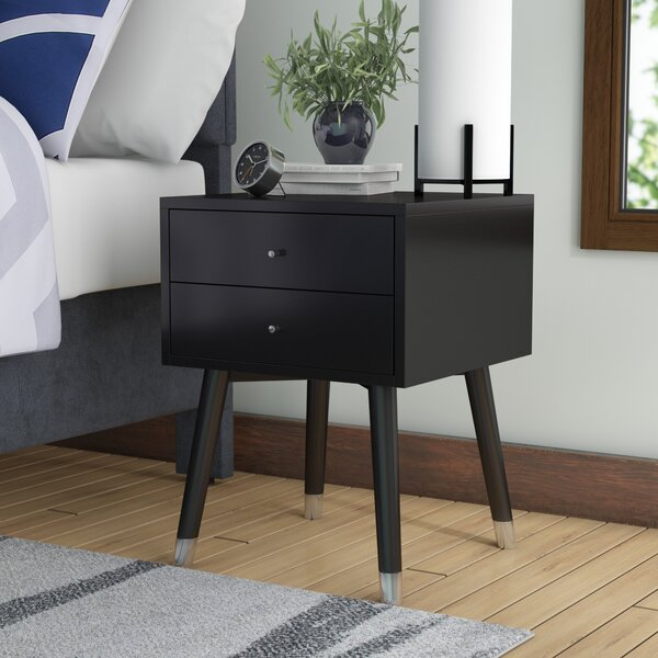Kraemer 2 Drawer Nightstand by Mercury Row
