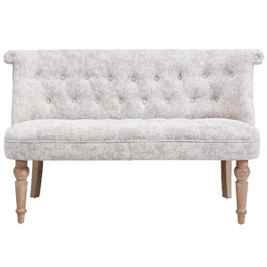 Hartsville Fabric Button Tufted Settee