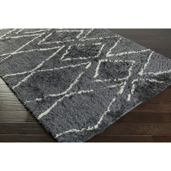 Leona Charcoal Area Rug by Bungalow Rose