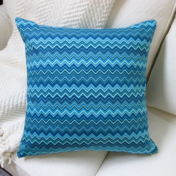 Zig Zag Cotton Pillow Cover by Artisan Pillows
