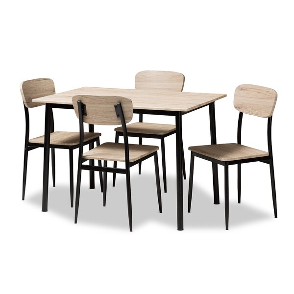 Wiggs 5 Piece Dining Set by Millwood Pines
