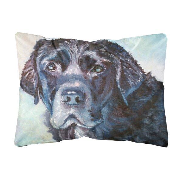 Scoville Labrador Face Fabric Indoor/Outdoor Throw Pillow by Winston Porter