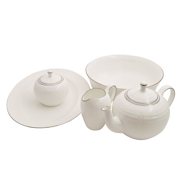 Elegance Bone China Traditional Serving 5 Piece Dinnerware Set by Shinepukur Ceramics USA, Inc.