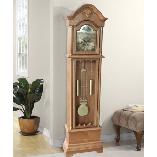 72 Wood Floor Standing Grandfather Clock by Alcott Hill