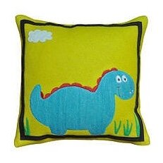 Dino Wool Throw Pillow by Amity Home