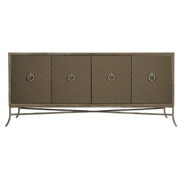Rustic Patina Entertainment Center For TVs Up To 88