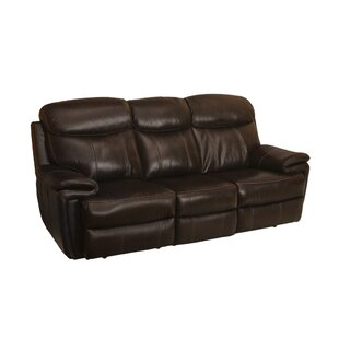 Koschwanez Leather Reclining Sofa Red Barrel Studio Cheap