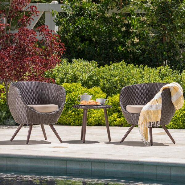 Springfield 3 Piece Rattan Seating Group with Cushions by George Oliver