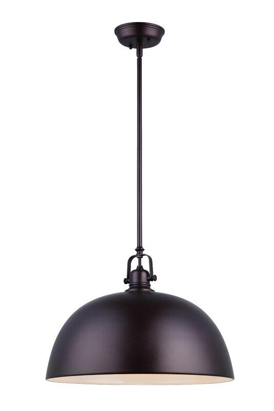Industrial Black 1-Light Bowl Pendant. Industrial farmhouse style on Hello Loveyl!