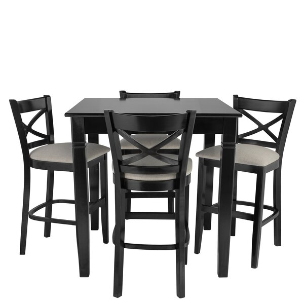 Weissman 5 Piece Pub Table Set by Red Barrel Studio