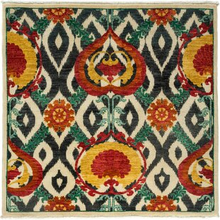 One-of-a-Kind Suzani Hand-Knotted Multicolor Area Rug ByDarya Rugs
