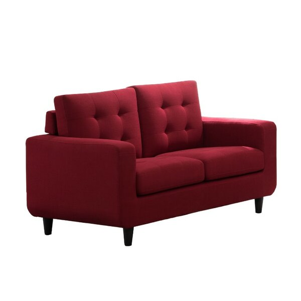 Cynthia Tufted Seat and Back Loveseat by Wrought Studio