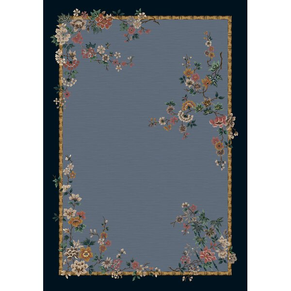 Signature Mindre Lapis Floral Area Rug by Milliken