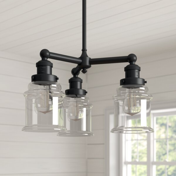Greeley 3-Light Shaded Classic / Traditional Chandelier by Laurel Foundry Modern Farmhouse Laurel Foundry Modern Farmhouse