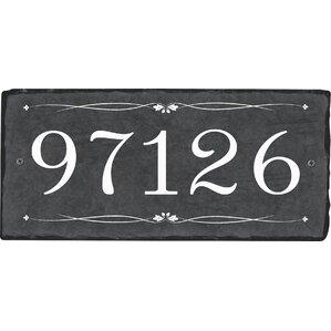 natalie 1line wall address plaque