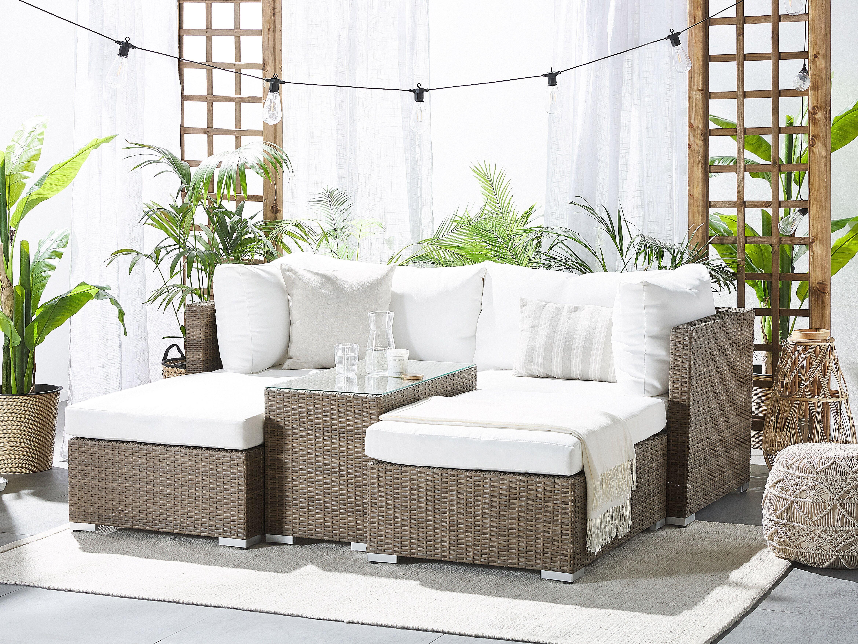 Garten Living 2 Sitzer Loungemobel Set Thecle Bewertungen Wayfair De