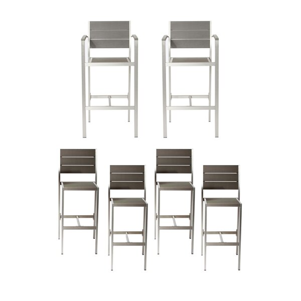 Ownby 6 Piece Patio Bar Stool Set by Orren Ellis