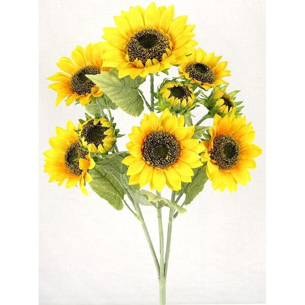 3 Stems Artificial Blooms Sunflower Floral Arrangement by August Grove