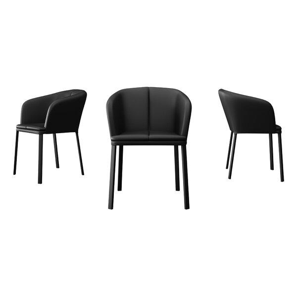 Thadine Genuine Leather Upholstered Dining Chair by Orren Ellis Orren Ellis