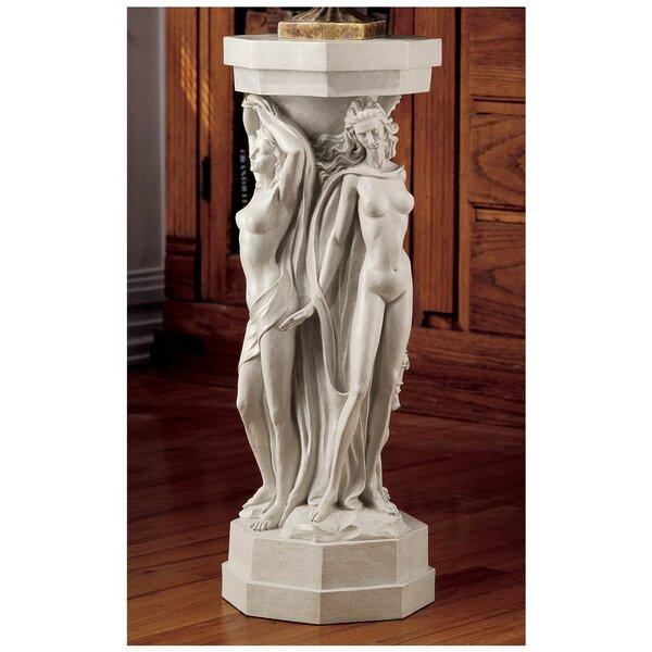 Astoria Grand Caerlaverock Maenads Sculpture Pedestal Plant Stand - Column pedestal plant stand