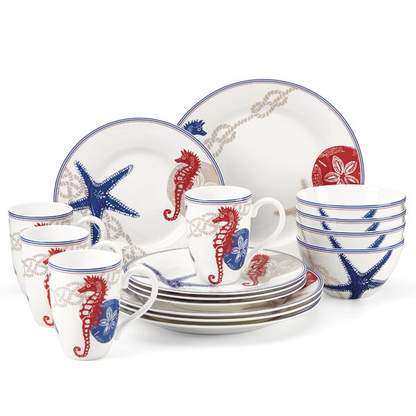 Oceanside 16 Piece Dinnerware Set, Service for 4 by Lenox