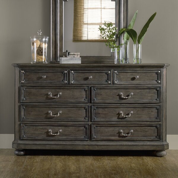 Vintage West 9 Drawer Dresser by Hooker Furniture