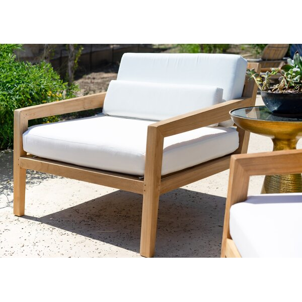 Catalina Moana Outdoor Teak Patio Chair with Cushions by Hives and Honey