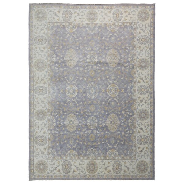 One-of-a-Kind Baron Oriental Hand-Knotted Beige/Purple Area Rug by Isabelline