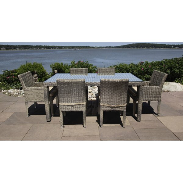 Corsica 7 Piece Dining Set With Cushions By Madbury Road