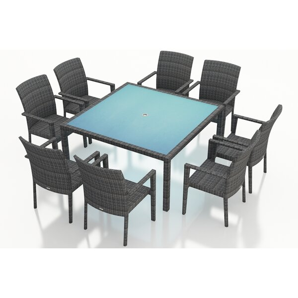 District 9 Piece Sunbrella Dining Set by Harmonia Living