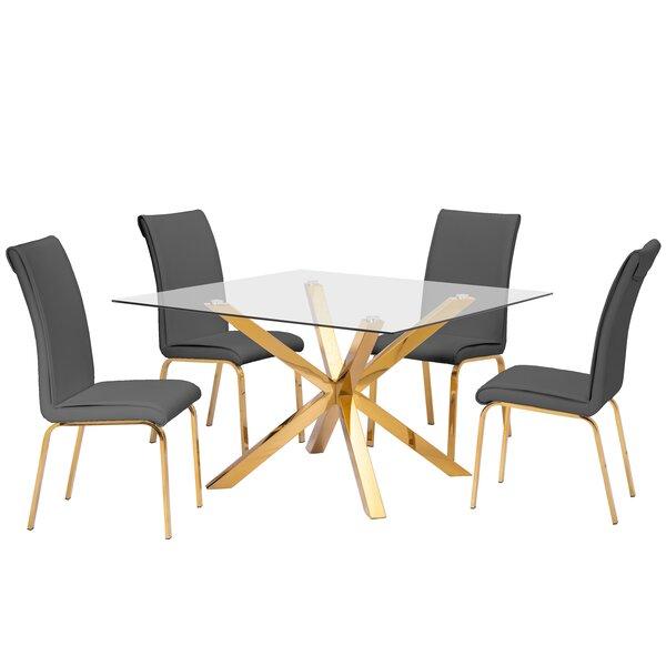 Villarreal 5 Piece Dining Set by Mercer41