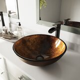 Russet Glass Circular Vessel Bathroom Sink by VIGO