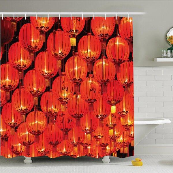 Jody Chinese Lantern Festival Shower Curtain Set by Bloomsbury Market