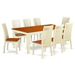 Beesley 9 Piece Solid Wood Dining Set by DarHome Co
